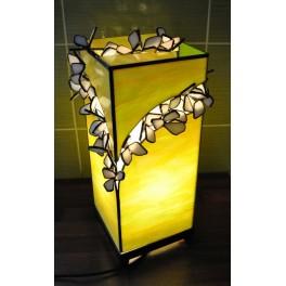Dekorační lampa Bílé kvítky
